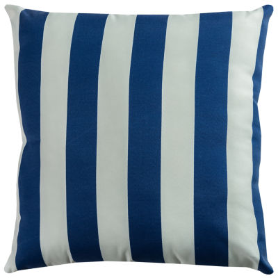 Rizzy Home Henry Stripe Pattern Indoor Outdoor Filled Pillow