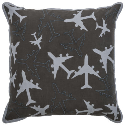 Rizzy Home Ian Novelty Pattern Filled Pillow