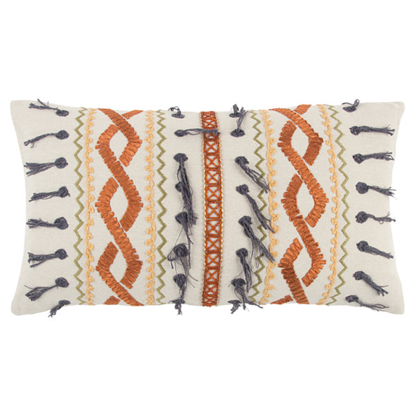 Rizzy Home Ivan Geometric Pattern Filled Pillow