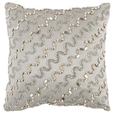 Rizzy Home Jameson Stripe Pattern Filled Pillow