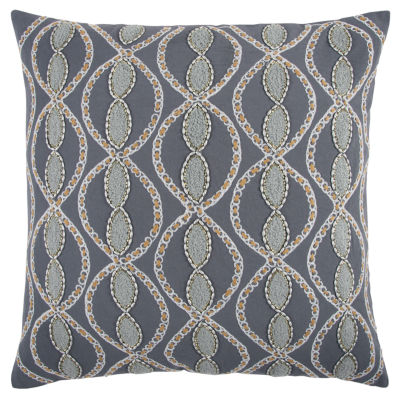 Rizzy Home Jesus Geometric Pattern Filled Pillow