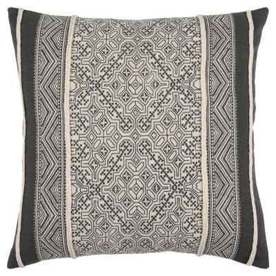 Rizzy Home Joel Abstract Pattern Filled Pillow