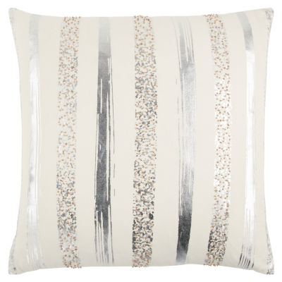 Rizzy Home John Stripe Pattern Filled Pillow