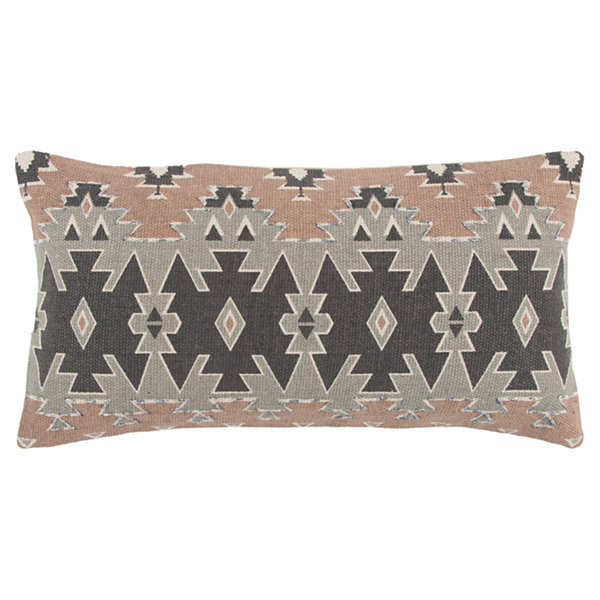 Rizzy Home Jonah Geometric Pattern Filled Pillow