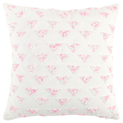 Rizzy Home Jude Diamond Pattern Filled Pillow