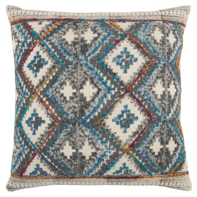 Rizzy Home Kaleb Geometric Pattern Filled Pillow