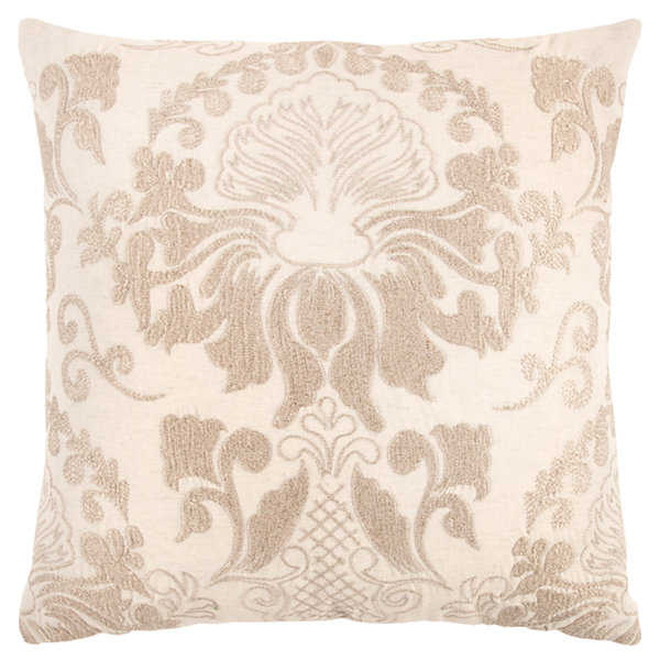 Rizzy Home Logan Floral Pattern Filled Pillow