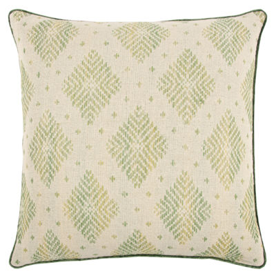 Rizzy Home Lucas Diamond Pattern Filled Pillow