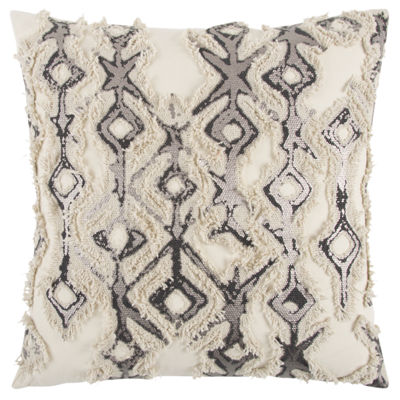 Rizzy Home Maddox Abstract Pattern Filled Pillow