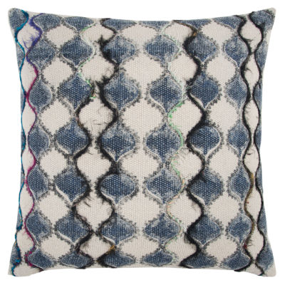 Rizzy Home Malachi Geometric Pattern Filled Pillow