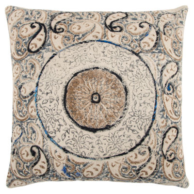 Rizzy Home Patrick Medallions Pattern Filled Pillow