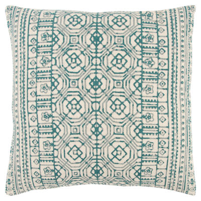 Rizzy Home Timothy Geometric Pattern Filled Pillow
