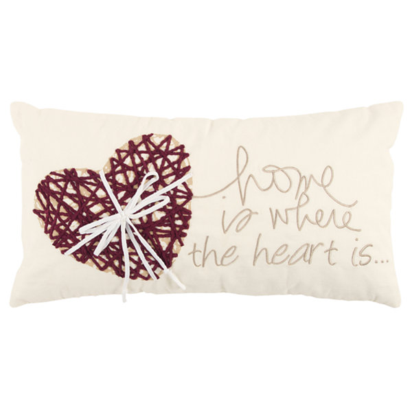 Rizzy Home Sylan Hearts Pattern Filled Pillow