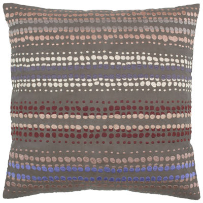 Anna Redmond By Rizzy Home Noah Dots Pattern Filled Pillow