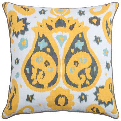 Laura Fair By Rizzy Home Elias Abstract Pattern Filled Pillow