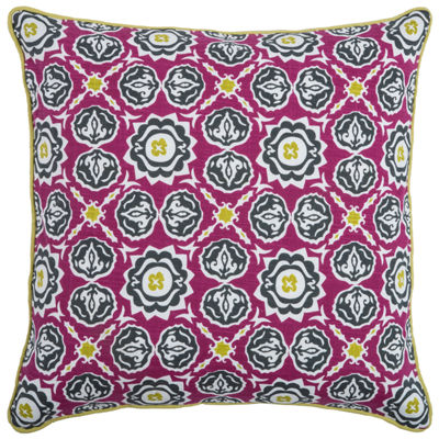Laura Fair By Rizzy Home Roman Medallions Pattern Filled Pillow
