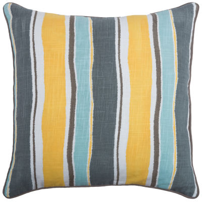 Laura Fair By Rizzy Home Theodore Stripe Pattern Filled Pillow