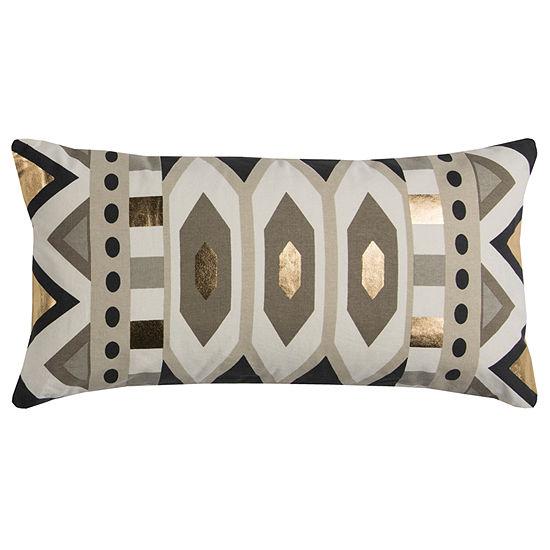 Rachel Kate By Rizzy Home Abel Geometric Pattern Filled Pillow