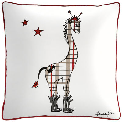 Rachel Kate By Rizzy Home Ryan Giraffe Pattern Filled Pillow