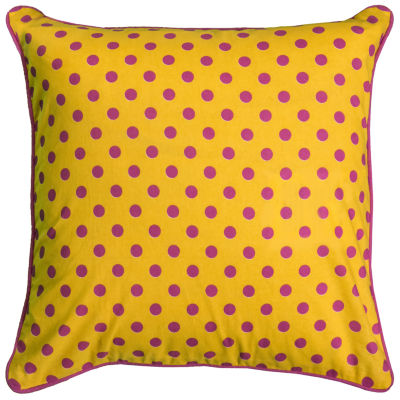 Rachel Kate By Rizzy Home Asher Polka Dots Pattern Filled Pillow