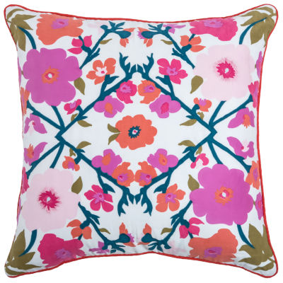 Laura Fair By Rizzy Home Luis Floral Pattern Filled Pillow