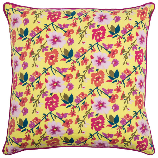 Laura Fair By Rizzy Home Miles Floral Pattern Filled Pillow