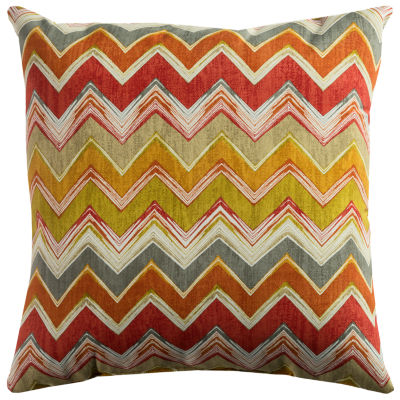 Rizzy Home Alejandro Chevron Pattern Indoor Outdoor Filled Pillow