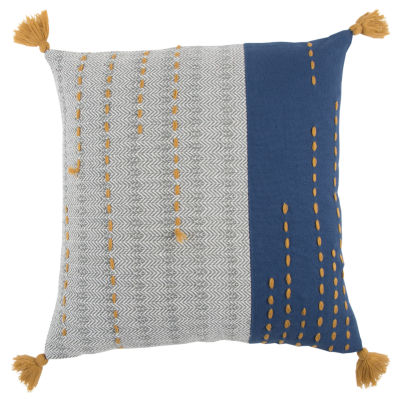 Rizzy Home Alexander Stripe Filled Pillow