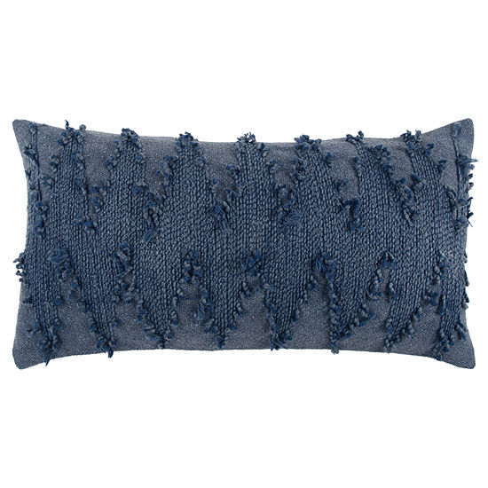 Rizzy Home Ashton Chevron Pattern Filled Pillow