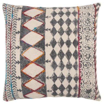 Rizzy Home Bryan Geometric Pattern Filled Pillow