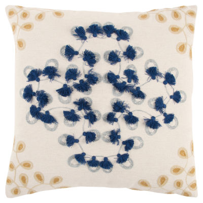 Rizzy Home Bryce Floral Pattern Filled Pillow