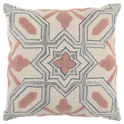 Rizzy Home Bryson Geometric Pattern Filled Pillow