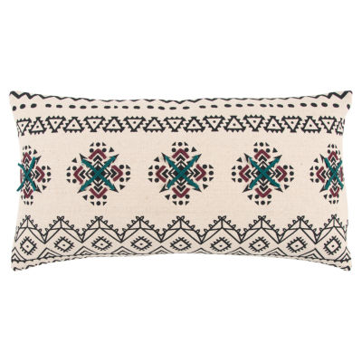 Rizzy Home Bentley Floral Pattern Filled Pillow