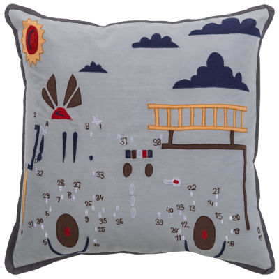 Rizzy Home Chase Novelty Pattern Filled Pillow