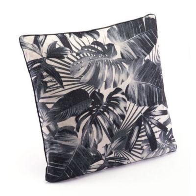 Black Jungle Throw Pillow