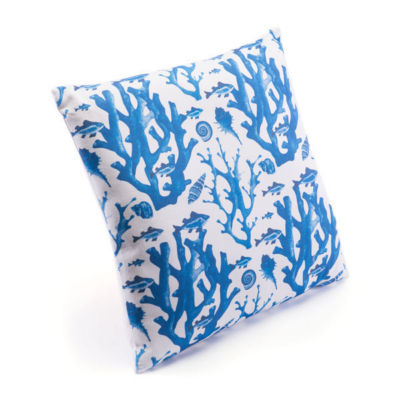 Blue Reef Throw Pillow
