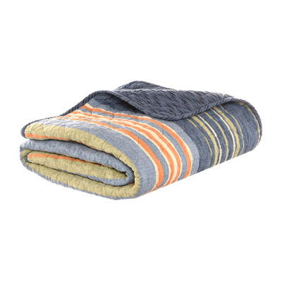 Eddie Bauer Yakima Valley Stripe Persimmon 50X60 Throw