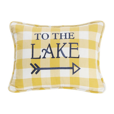 HiEnd Accents Beaufort Lake Oblong Throw Pillow
