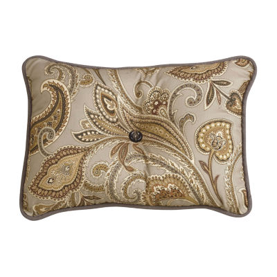 HiEnd Accents Paisley Tufted Pillow