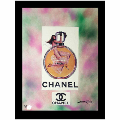 Fairchild Paris Chanel Chance Bottle Framed Wall Art