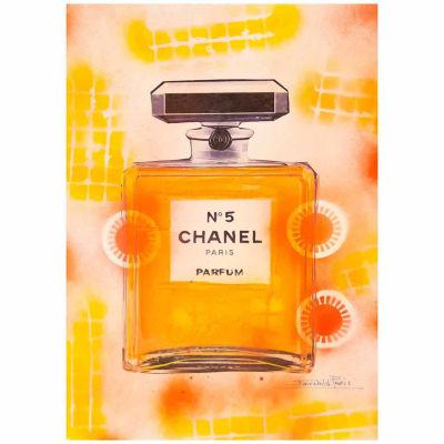 Fairchild Paris Orange Chanel No. 5 Orange Bottle Framed Wall Art