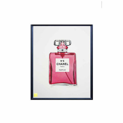 Fairchild Paris Pink Chanel No. 5 Legacy Collection Framed Wall Art