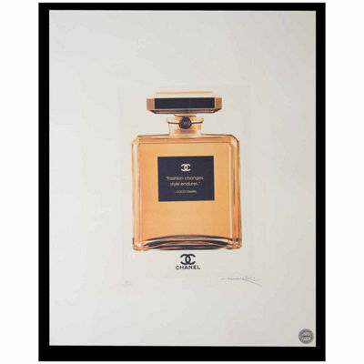 Fairchild Paris Gold Chanel No. 5 Gold Bottle Framed Wall Art