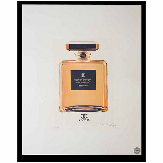 Fairchild Paris Gold Chanel No. 5 Gold Bottle Framed Wall Art - JCPenney