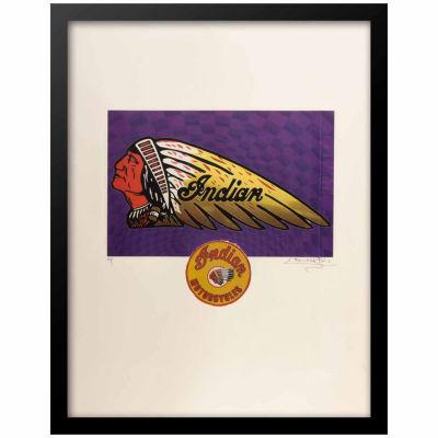 Fairchild Paris Indian Motorcycles Framed Wall Art