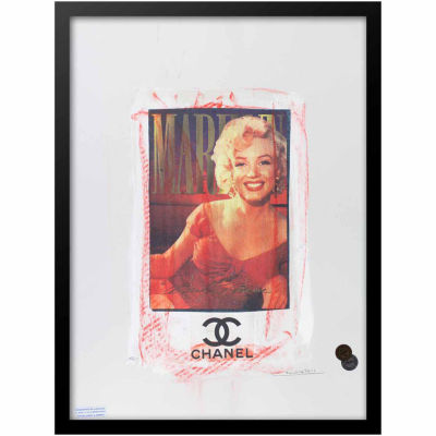 Fairchild Paris Marilyn Monroe Chanel Ad (727) Framed Wall Art