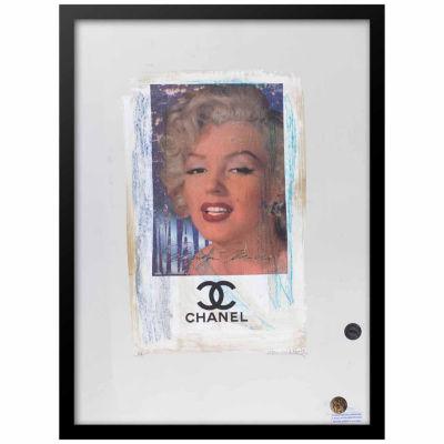 Fairchild Paris Marilyn Monroe Chanel Ad (739) Framed Wall Art