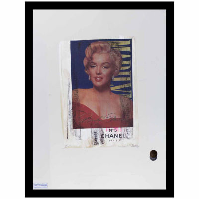 Fairchild Paris Marilyn Monroe Chanel Ad (740) Framed Wall Art