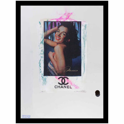 Fairchild Paris Marilyn Monroe Chanel Ad (741) Framed Wall Art