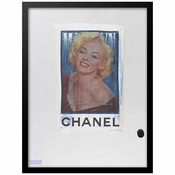 Fairchild Paris Marilyn Monroe Chanel Ad (745) Framed Wall Art